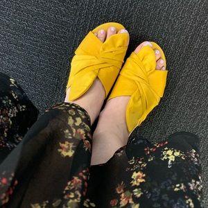 Knotted Silk Slide Sandal